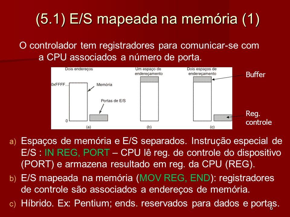 (5.1) E/S mapeada na memória (1)