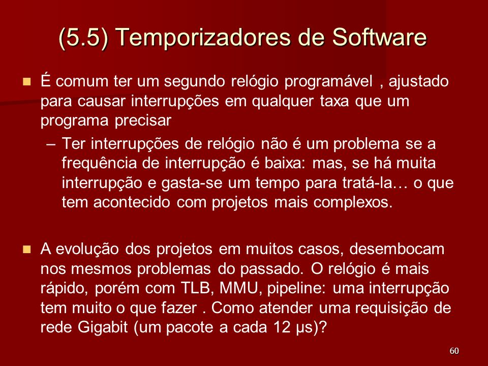 (5.5) Temporizadores de Software