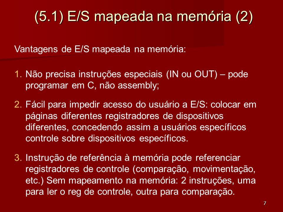 (5.1) E/S mapeada na memória (2)