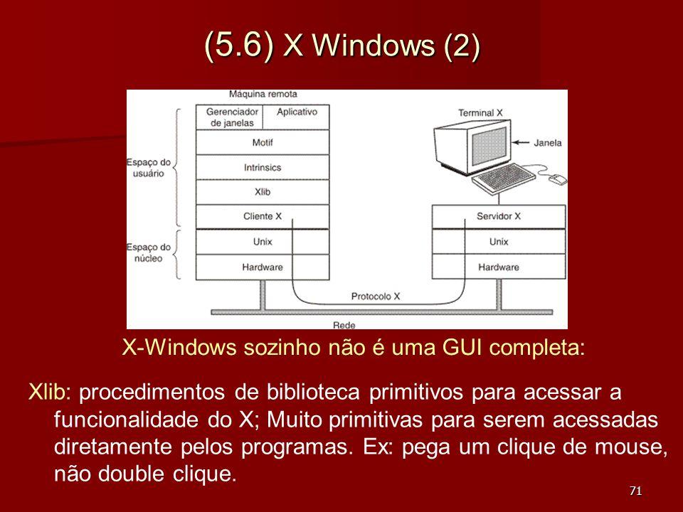 X-Windows sozinho não é uma GUI completa:
