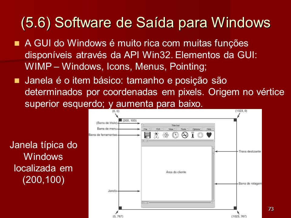 (5.6) Software de Saída para Windows