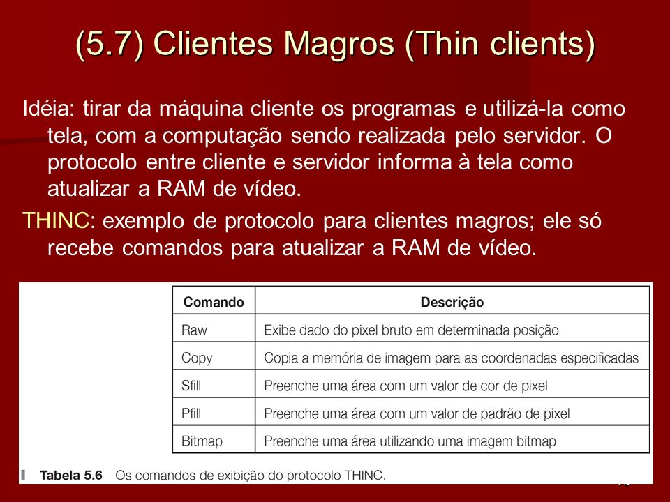 (5.7) Clientes Magros (Thin clients)