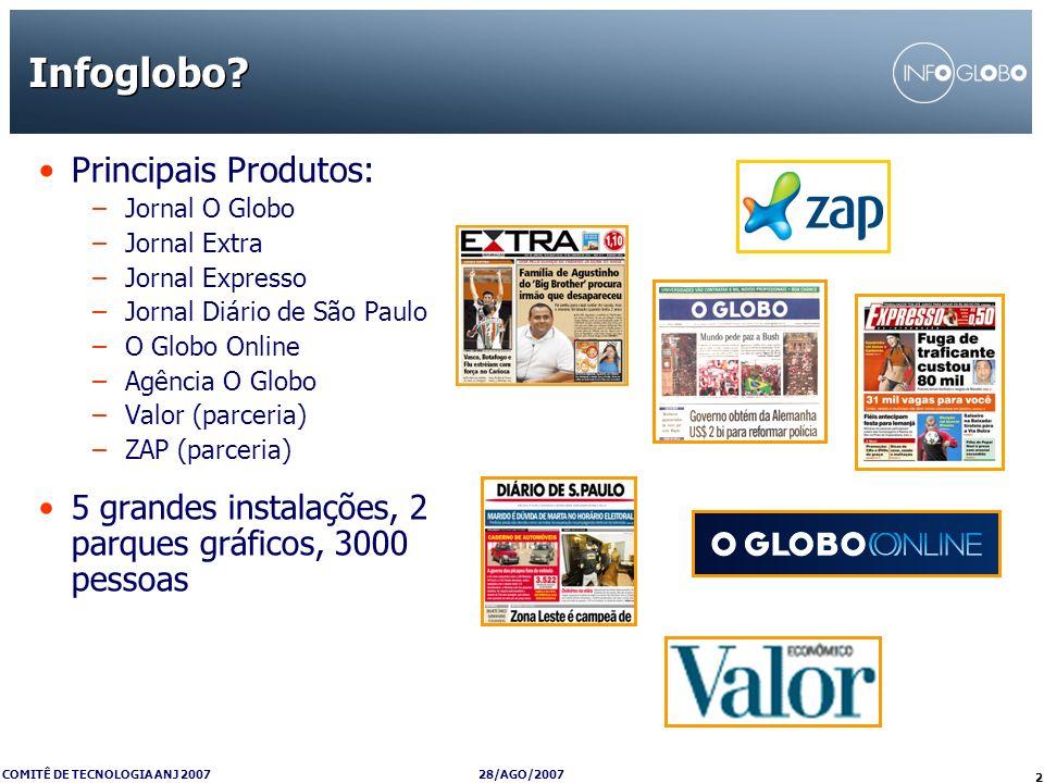 Infoglobo Principais Produtos:
