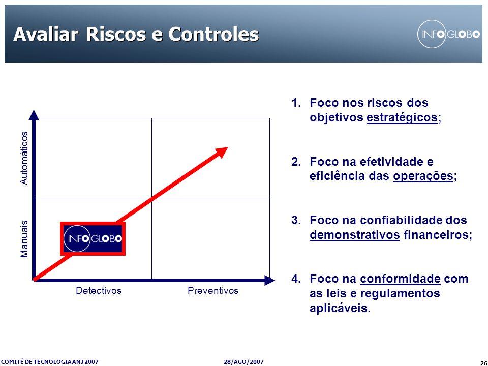 Avaliar Riscos e Controles