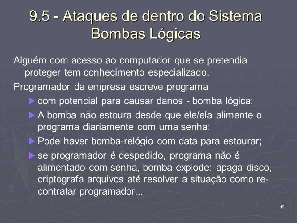 9.5 - Ataques de dentro do Sistema Bombas Lógicas