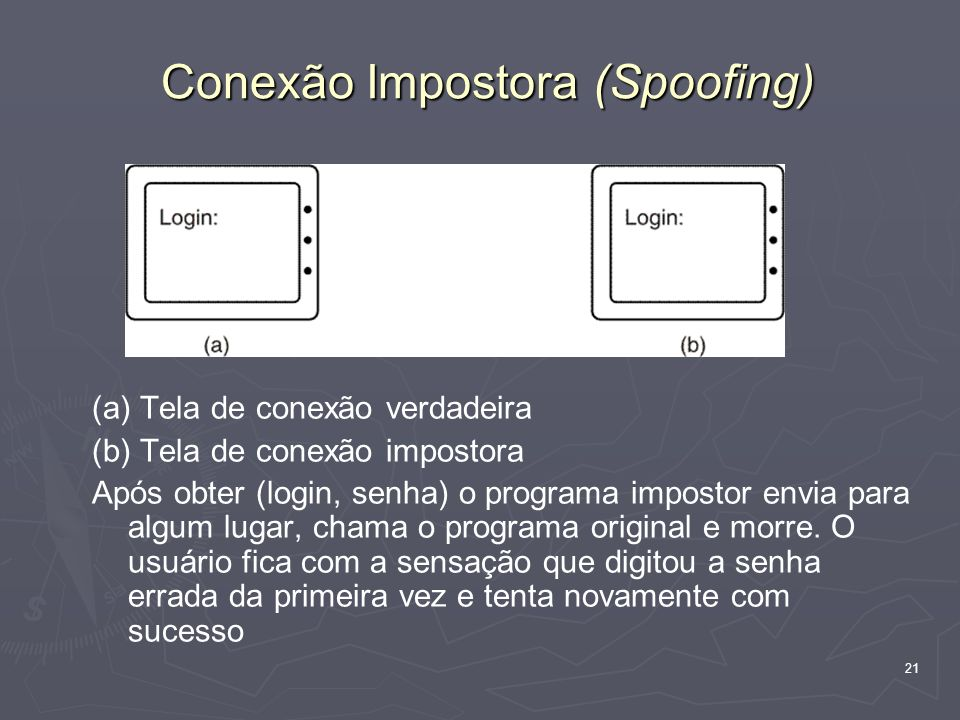 Conexão Impostora (Spoofing)