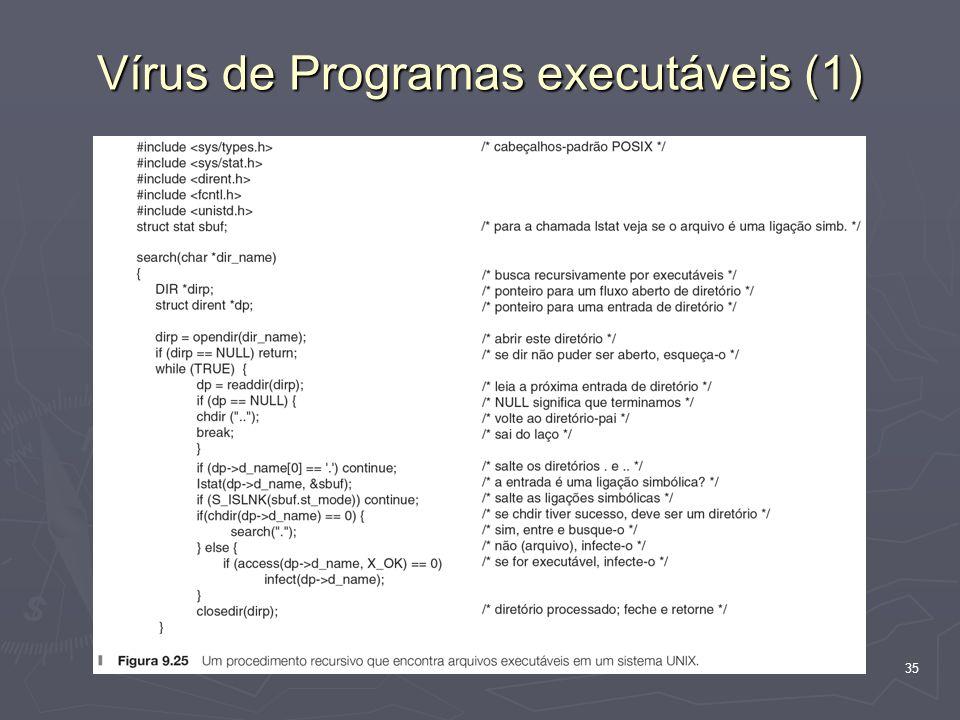 Vírus de Programas executáveis (1)