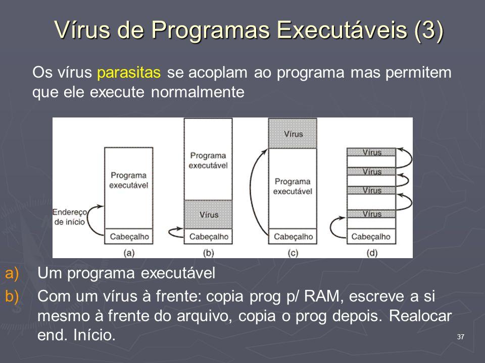 Vírus de Programas Executáveis (3)
