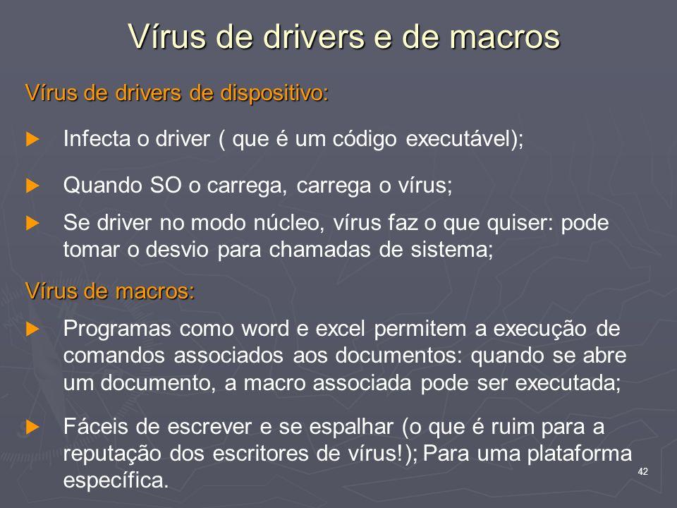Vírus de drivers e de macros