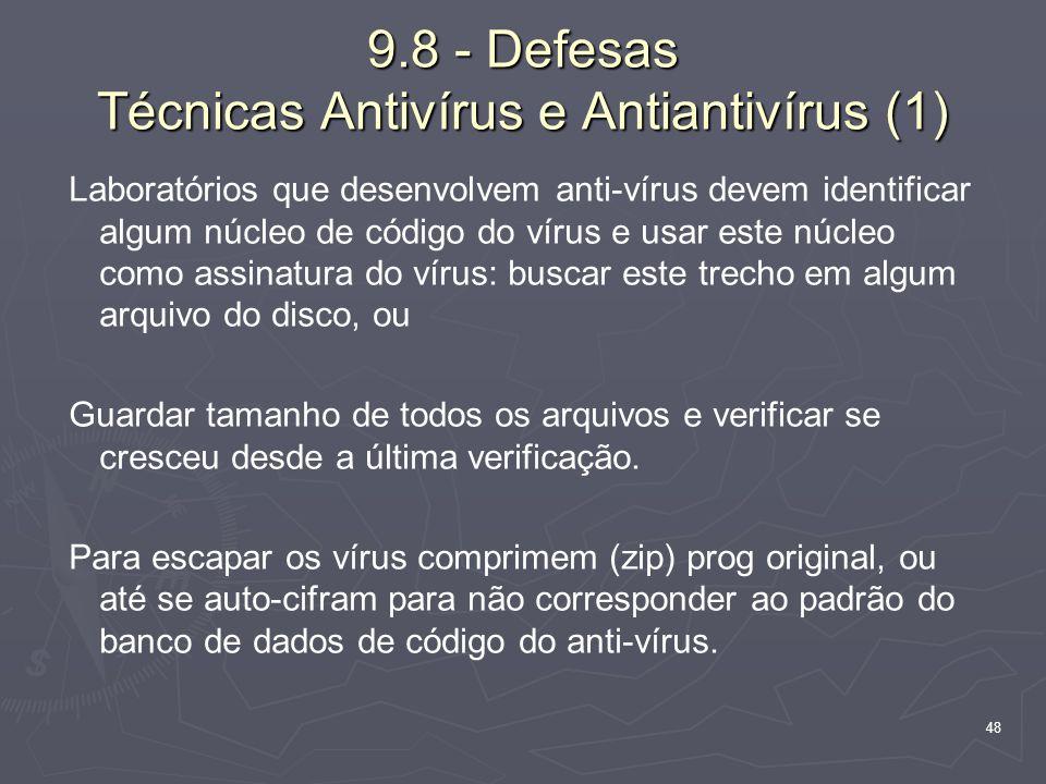 9.8 - Defesas Técnicas Antivírus e Antiantivírus (1)