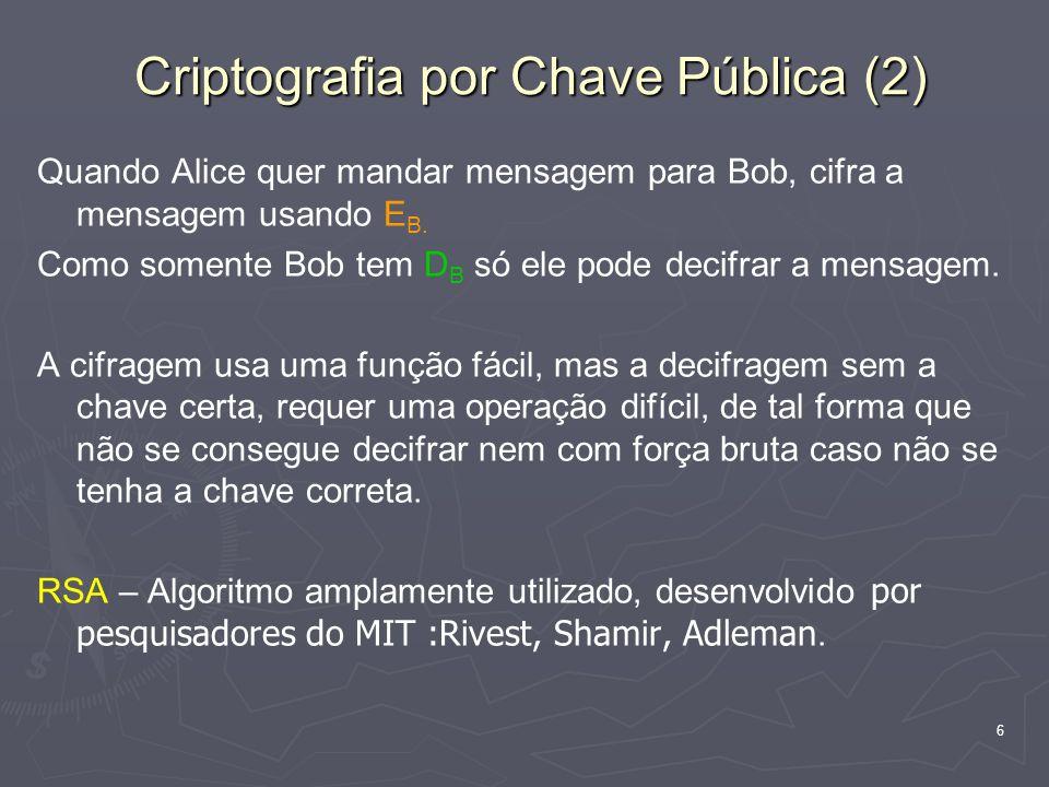 Criptografia por Chave Pública (2)
