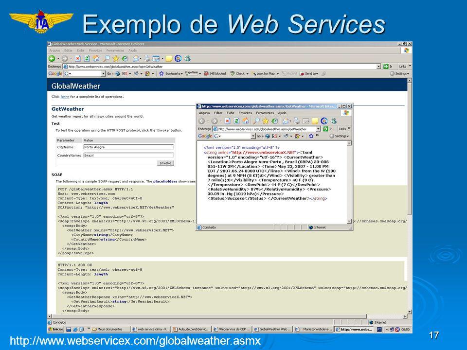 Exemplo de Web Services