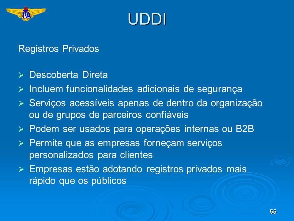 UDDI Registros Privados Descoberta Direta