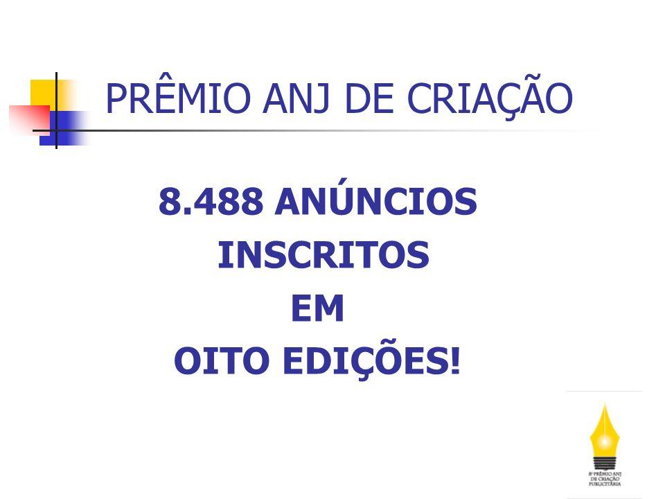 8.488 ANÚNCIOS INSCRITOS EM OITO EDIÇÕES!