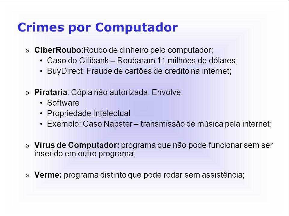 Crimes por Computador CiberRoubo:Roubo de dinheiro pelo computador;