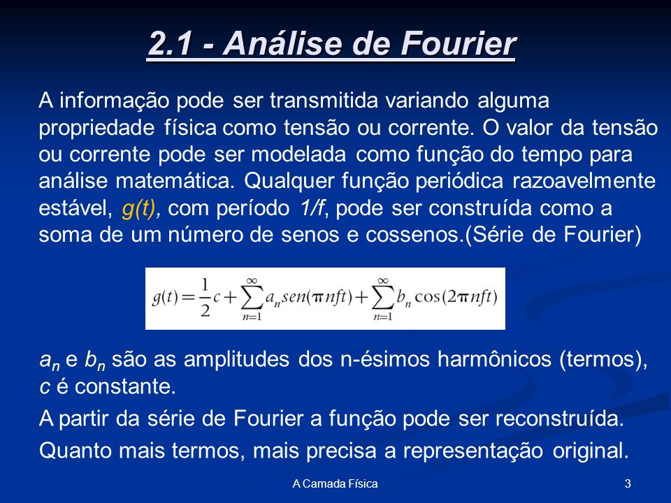 2.1 - Análise de Fourier