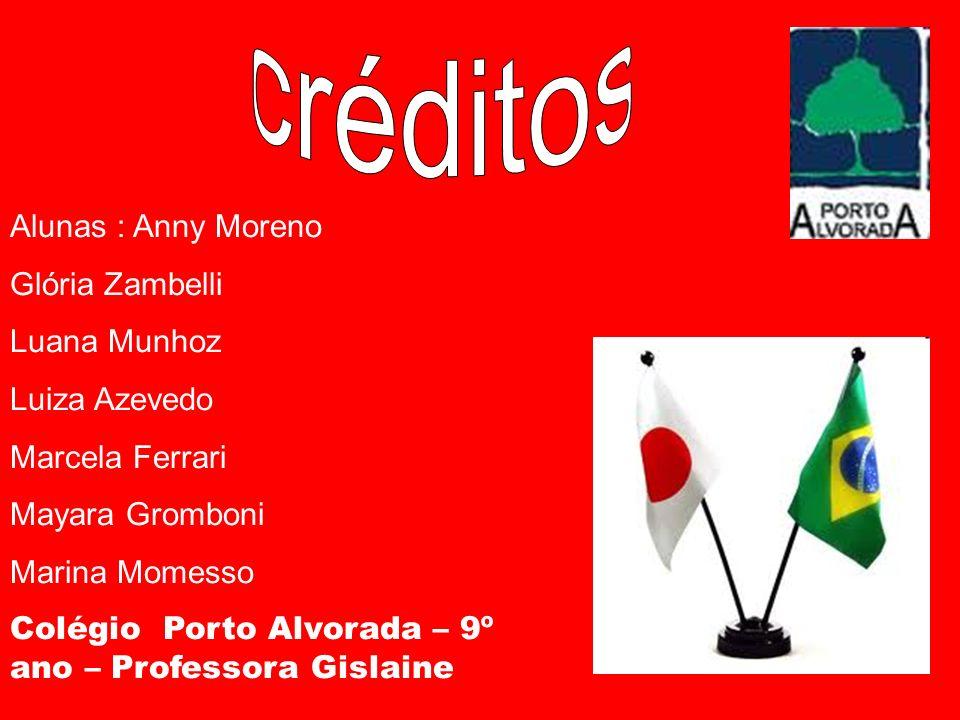 créditos Alunas : Anny Moreno Glória Zambelli Luana Munhoz