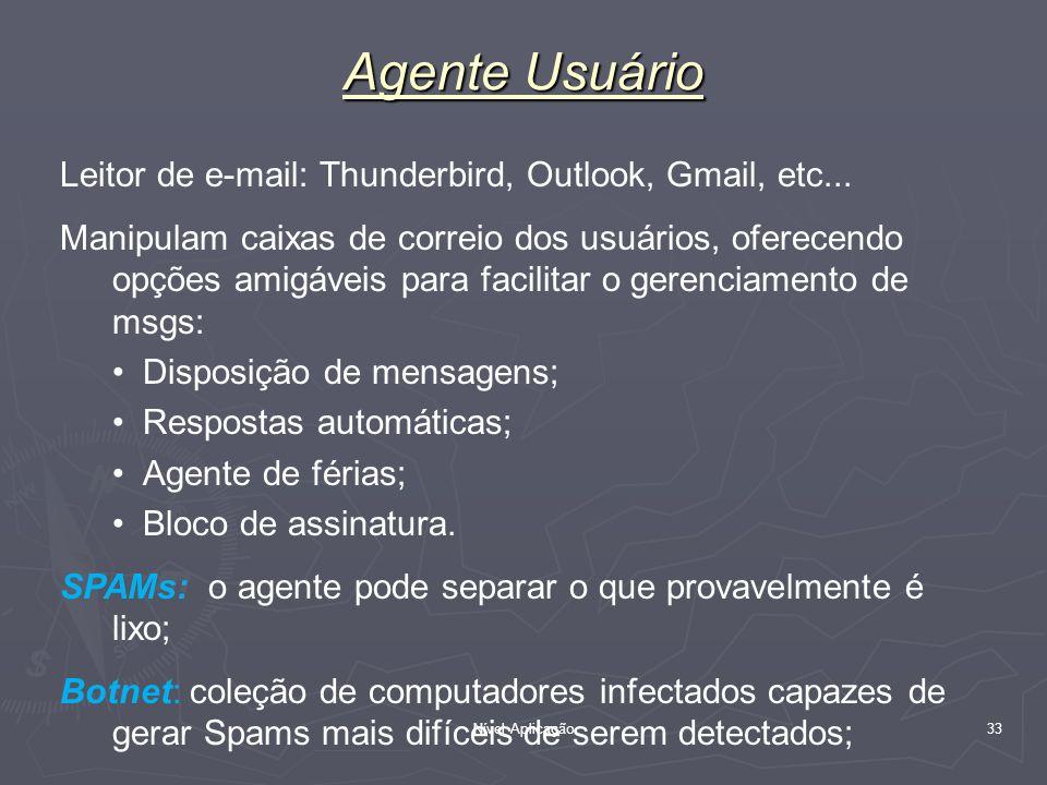 Agente Usuário Leitor de e-mail: Thunderbird, Outlook, Gmail, etc...
