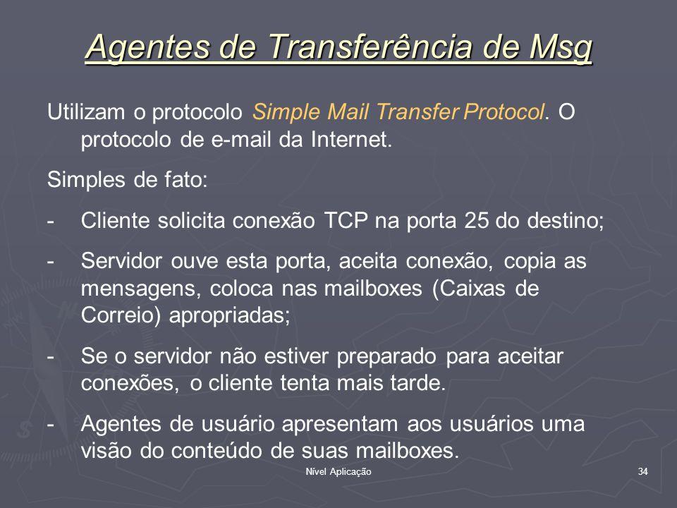 Agentes de Transferência de Msg