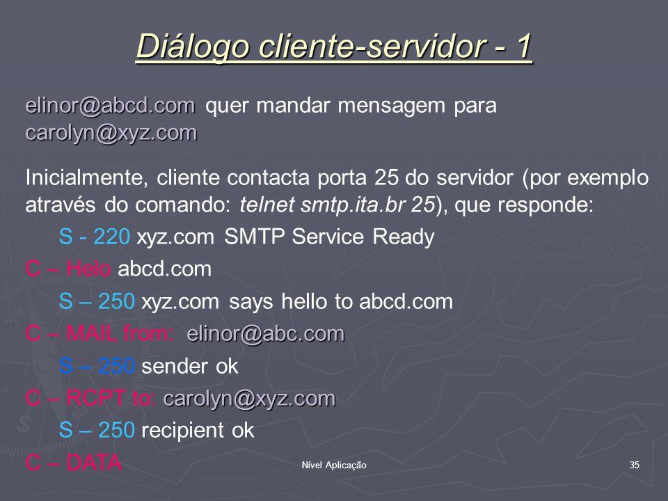 Diálogo cliente-servidor - 1