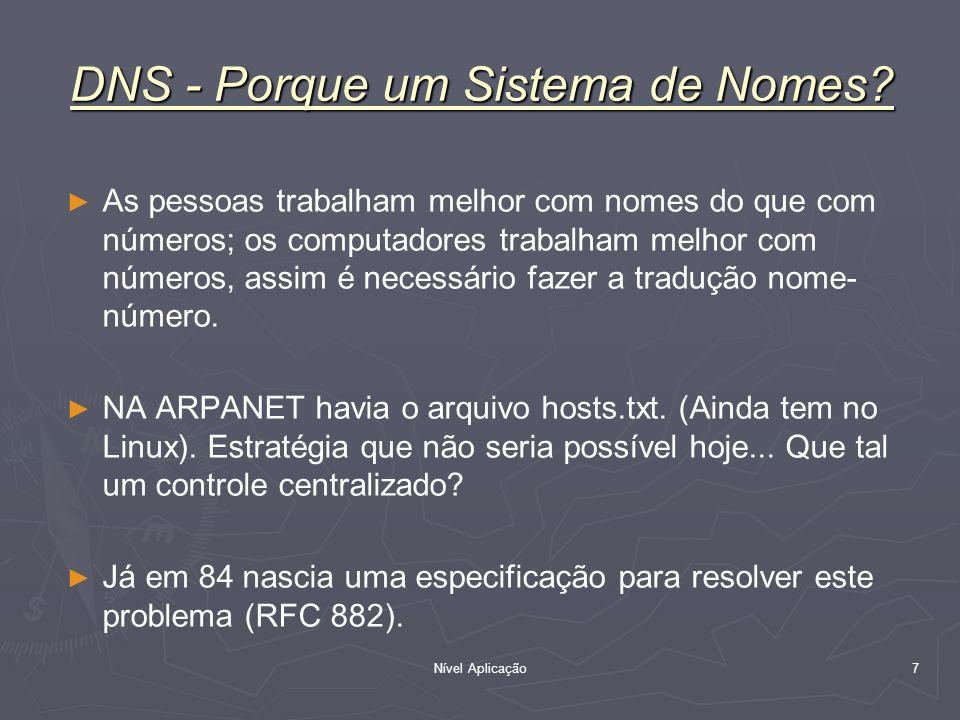 DNS - Porque um Sistema de Nomes