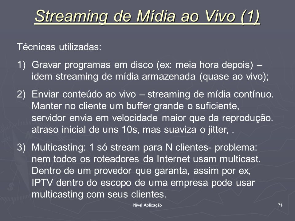 Streaming de Mídia ao Vivo (1)