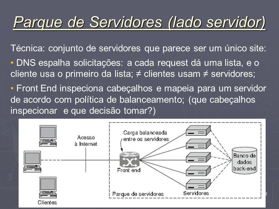 Parque de Servidores (lado servidor)
