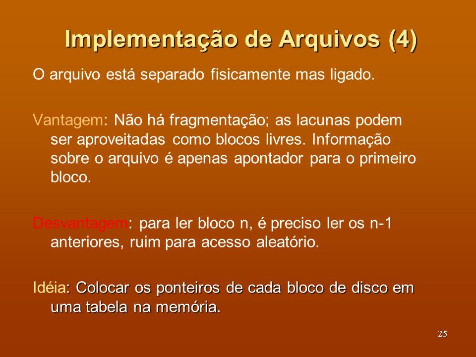 Implementação de Arquivos (4)