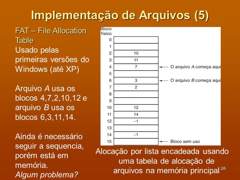 Implementação de Arquivos (5)