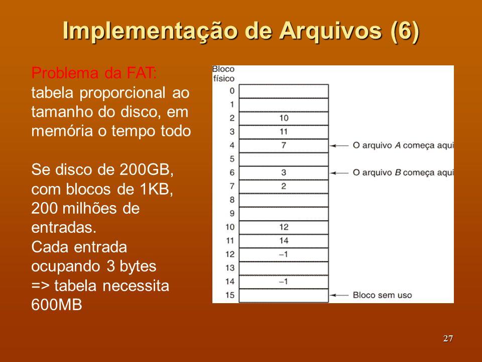 Implementação de Arquivos (6)