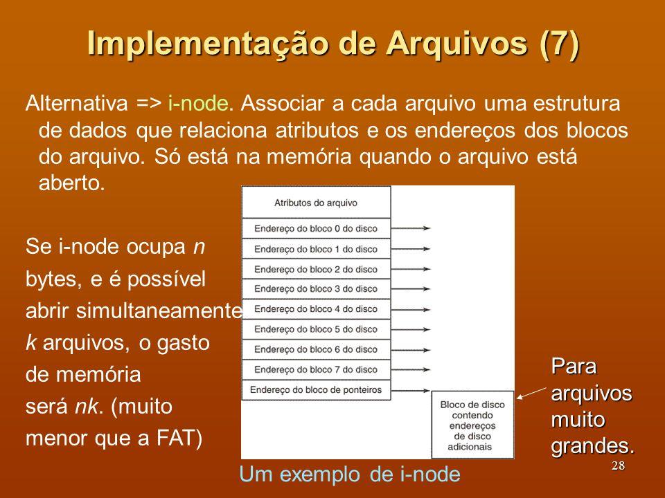 Implementação de Arquivos (7)