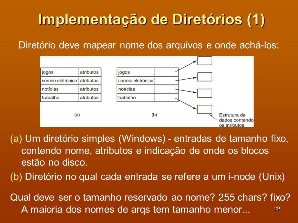 Implementação de Diretórios (1)