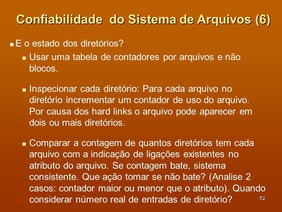 Confiabilidade do Sistema de Arquivos (6)