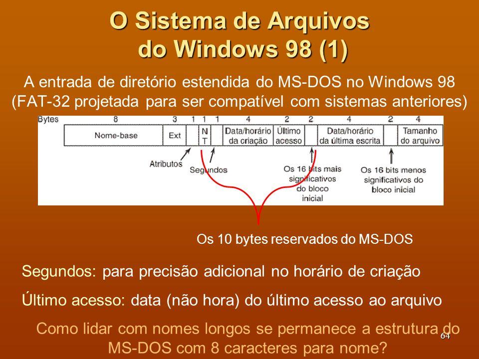 O Sistema de Arquivos do Windows 98 (1)