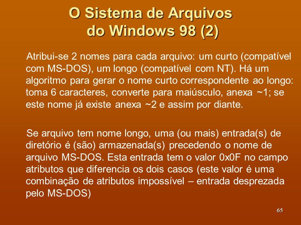 O Sistema de Arquivos do Windows 98 (2)