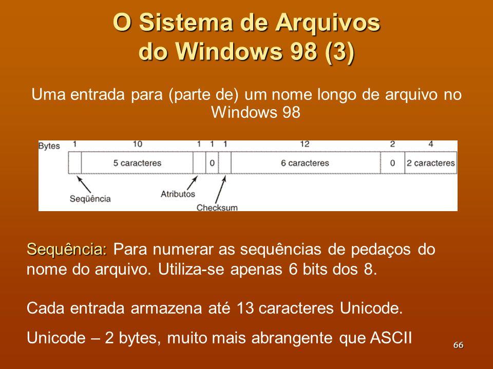 O Sistema de Arquivos do Windows 98 (3)