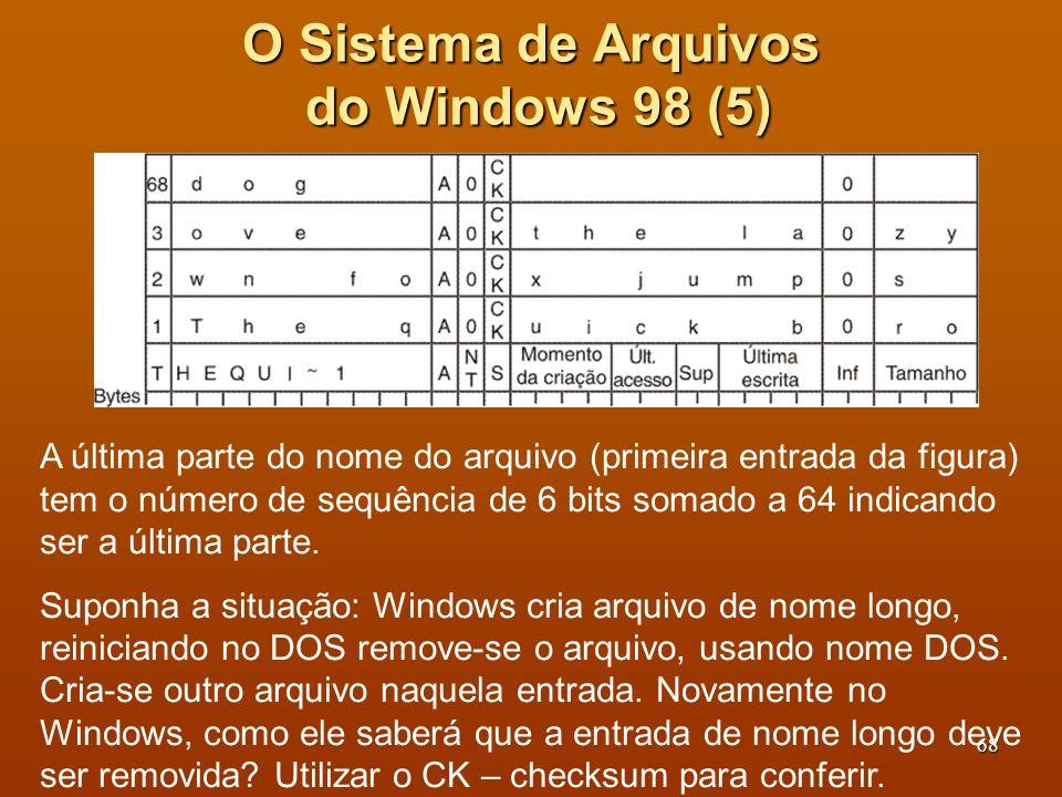 O Sistema de Arquivos do Windows 98 (5)