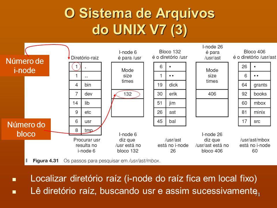O Sistema de Arquivos do UNIX V7 (3)