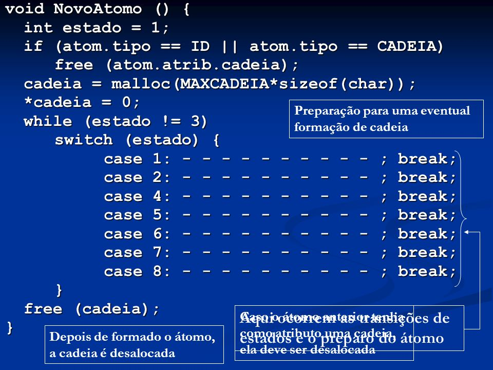 if (atom.tipo == ID || atom.tipo == CADEIA) free (atom.atrib.cadeia);