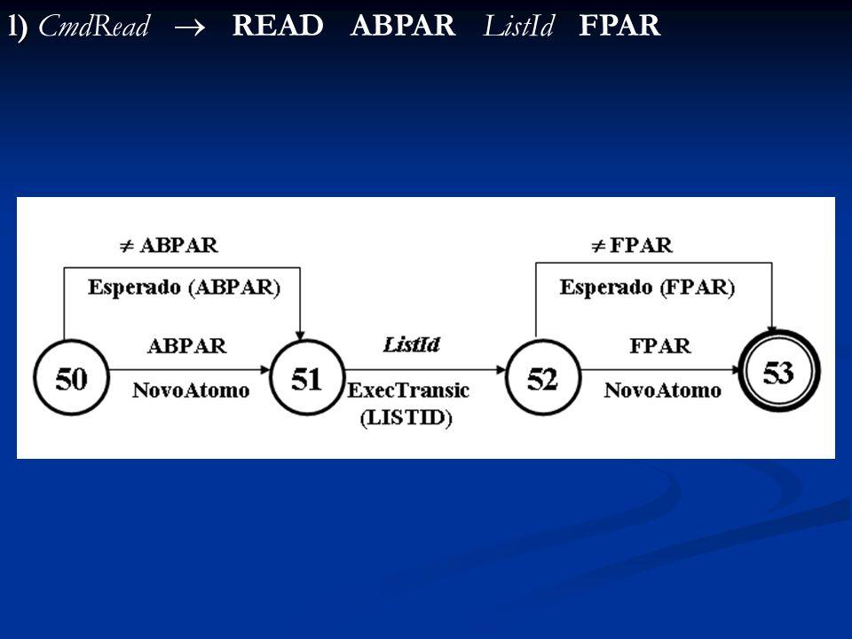l) CmdRead  READ ABPAR ListId FPAR