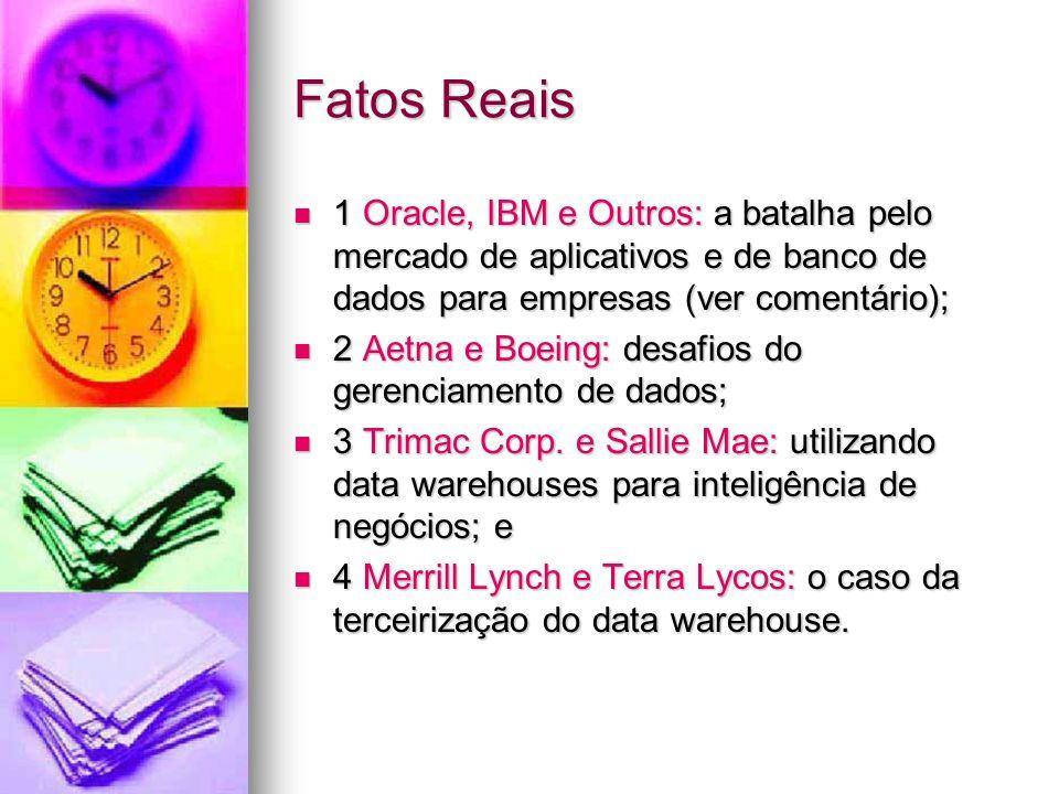 Fatos Reais 1 Oracle, IBM e Outros: a batalha pelo mercado de aplicativos e de banco de dados para empresas (ver comentário);