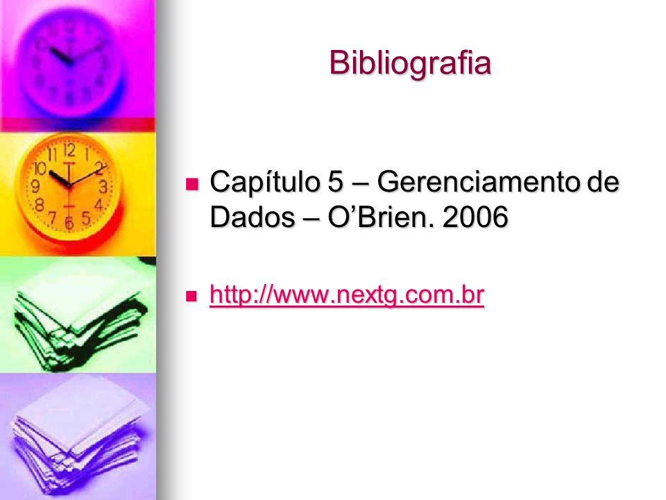 Bibliografia Capítulo 5 – Gerenciamento de Dados – O'Brien. 2006