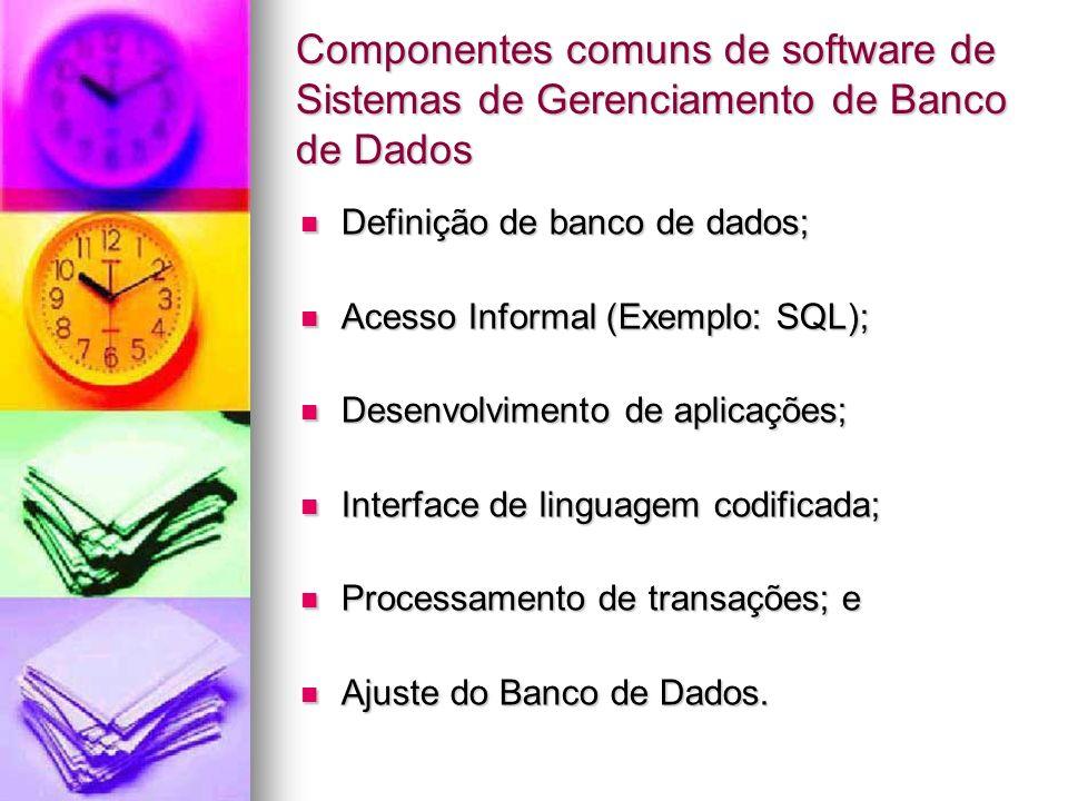 Componentes comuns de software de Sistemas de Gerenciamento de Banco de Dados
