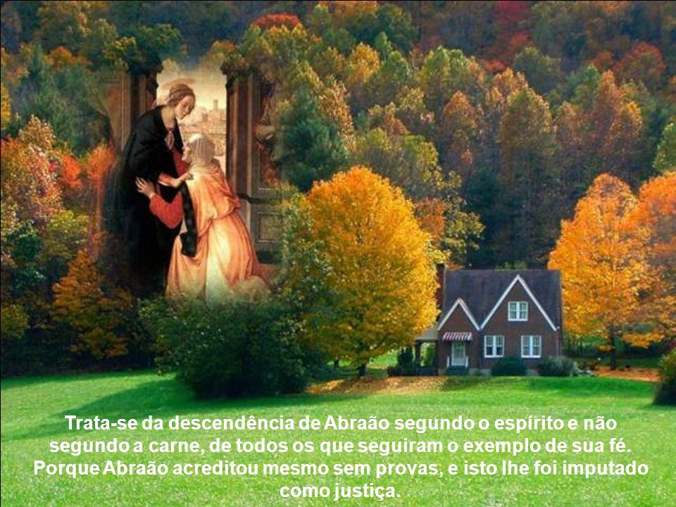 Trata-se da descendência de Abraão segundo o espírito e não segundo a carne, de todos os que seguiram o exemplo de sua fé.