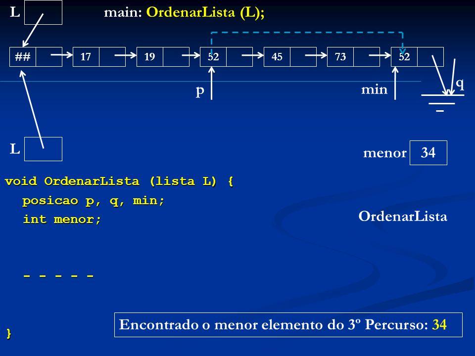 main: OrdenarLista (L);