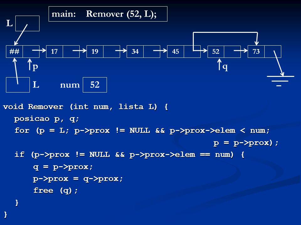 main: Remover (52, L); L p q L 52 num