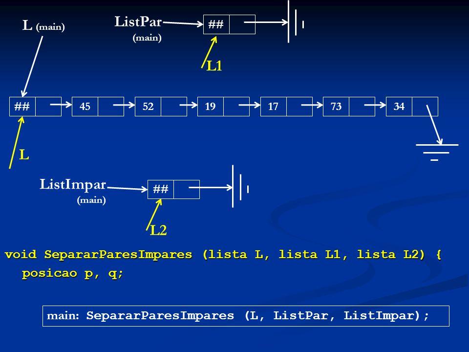 ListPar (main) L (main) L1 L ListImpar (main) L2