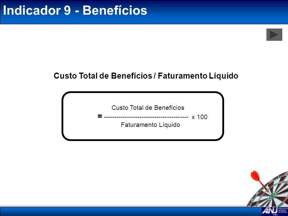 Indicador 9 - Benefícios