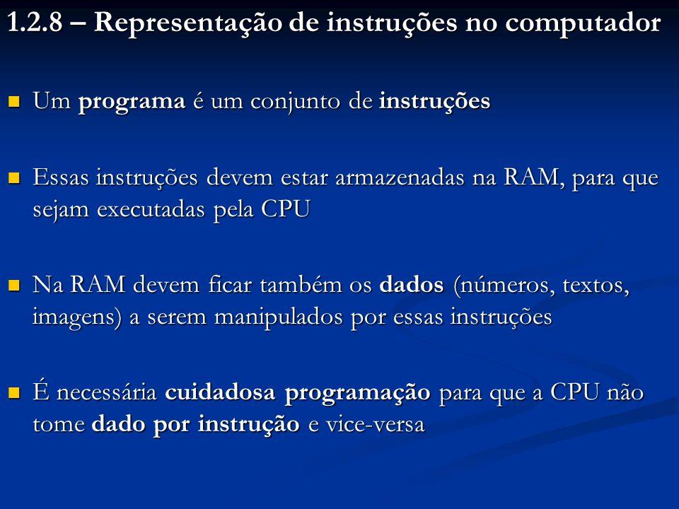 1.2.8 – Representação de instruções no computador