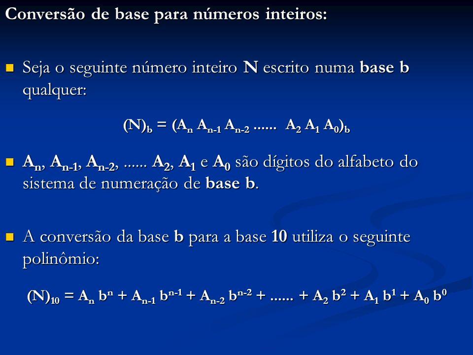 (N)10 = An bn + An-1 bn-1 + An-2 bn-2 + ...... + A2 b2 + A1 b1 + A0 b0
